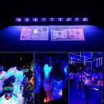 YomyRay Black Light UV Bar Lighting Glow Neon Stage LightingSound Contrôle activé Utilisation pour les décorations de fête Halloween Christmas Festival Club disco DJ light (6 LED UV) de la marque YomyRay image 2 produit