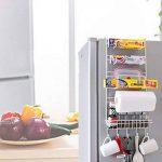 Yontree Étagère à suspendre pour réfrigérateur avec Ventouses Étagère à Epices Rangement Cuisine de la marque Yontree image 4 produit