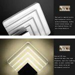 ZT LED Acrylique Aluminium Applique Carré Argent Économie D'énergie 14X14cm Pour Salle De Bains Chambre Salle À Manger de la marque Inconnu image 2 produit