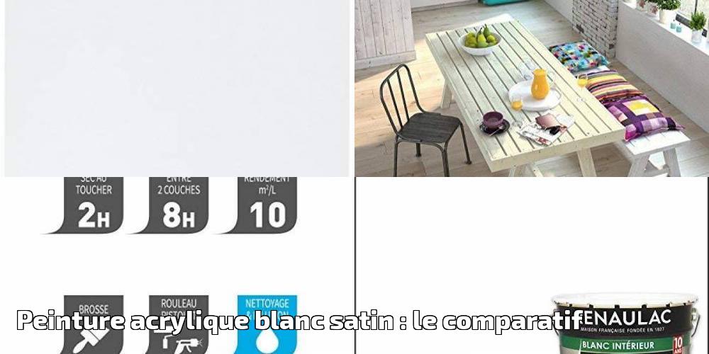 Peinture Acrylique Blanc Satin Le Comparatif Pour 2019 Meilleure